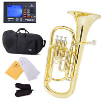 NEW BRASS Bb BARITONE ~Band Instructors Approved+TUNER