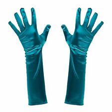 Turquoise Green Poison Ivy / Mermaid Fancy Dress Elbow Length Gloves