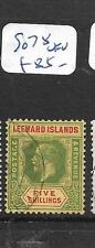 LEEWARD ISLANDS  (PP1406B)  KGV 5/-  SG 78   VFU