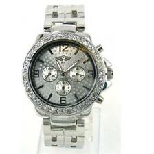 Prince London NY jewelled face bezel metal dials watch double strap stone set