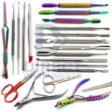 Pedicure Manicure Tools Cuticle Pusher Remover Trimmer Nipper Nail Art Care File
