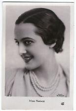 CPA 24 ART DECO LYNE DE SOUZA MISS FRANCE 1932 CONCOURS PIN-UP MANNEQUIN SEXY
