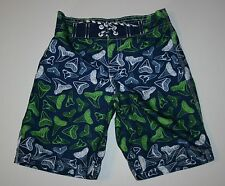 New Gymboree Shark Tooth Swim Board Shorts Trunks Swimming Suit Size 18-24M NWT