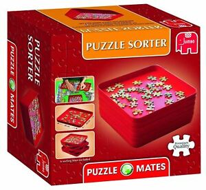 Jumbo Games Puzzle Mates Jigsaws Sorter 6 Stackable Sorting Stack Trays 17953