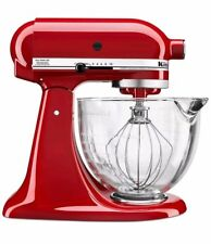 KitchenAid 5-Qt Tilt-Head Stand Mixer w/ Glass Bowl and Flex Edge Beater - Red