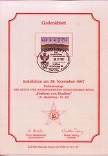 BRD MiNr 2.1.K (PMR 32) 200. Todestag von Frdr. Wilh. von Steuben -Freimaurer-