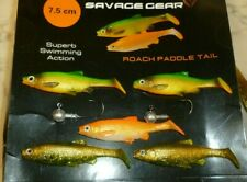savage gear 5 mixed 7.5cm paddle tails and 2 jig heads go fishing kit bargain