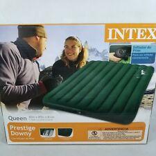 "Intex Queen 8.75"" Prestige Downy Airbed Mattress with Hand-Held Battery Pump"