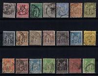 Q139696/ FRANCE – YEARS 1876 - 1900 USED CLASSIC LOT – CV 165 $