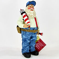"Clothtique LANDING BEACON 11"" Santa Illuminated Lighthouse 713181 Possible Dream"