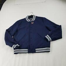 Slate & Stone Men's  varsity Jacket coat snap front blue large mb