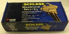 Schlage Maximum Security Bright Brass Handle Set Anti- Tarnish F3583
