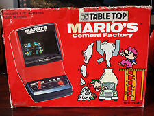 NINTENDO GAME&WATCH MARIO´S CEMENT TABLETOP CM-72 CAJA BOX ¡¡¡DIFICILISIMA!!!