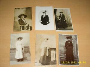 LADIES IN FANCY FASHION HATS  VINTAGE COLLECTION  PHOTO POSTCARDS