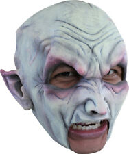 VAMPIRE CHINLESS HEAD MASK WITH CHINSTRAP LATEX HORROR HALLOWEEN