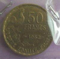 50 francs guiraud 1953 : SUP : pièce de monnaie française N48