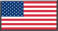 Magnetic American Flag - 5in X 2.6in - Outdoor - Thick and Durable!