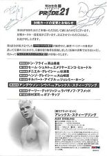 Fedor Emelianenko Don Frye Goodridge Signed Pride 21 Program Insert PSA/DNA UFC