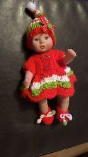 """Bambole vestiti Caffè Crochet Lavorato A Maglia Scarpe Fit bambino nato Annabell Reborn 15-19/"""""""