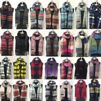 New Men/'s Winter Warm 100/% Cashmere Scarf Tweed Stripe SCOTLAND Soft Wool Wrap