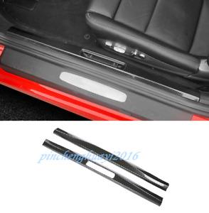 Carbon Fiber Inner Door Sill Guards Plate For Porsche 718 Boxster Cayman 16-19