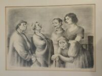 Lucile Blanch 1936 Lithograph 'The Shrew'  Signed & Framed, One of 50 Prints
