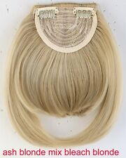 Clip in Front Neat Bangs Fringe Straight Natural 2 Clip in on Hair Extensions V3