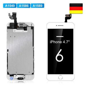LCD Ersatz Für iPhone 6 Weiß Display KOMPLETT VORMONTIERT Retina Bildschirm