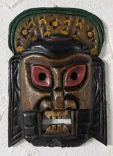 Mask with Teeth Thai Design Wooden Wall Hanging Hand Carved