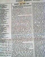BASEBALL America's Pastime & CRICKET Games Description COMPARED 1859 Newspaper