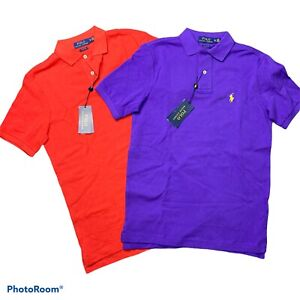 Ralph Lauren XS Classic fit Polo shirts Lot Of 2 Purple Red NWT