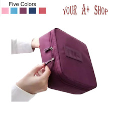 Travel Cosmetic Bag Toiletry Wash Zip Pouch Multi Function Women Makeup Case NEW