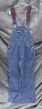 Vintage Tommy Hilfiger Blue Denim Overalls Bib Logo Carpenter Size Small Petite