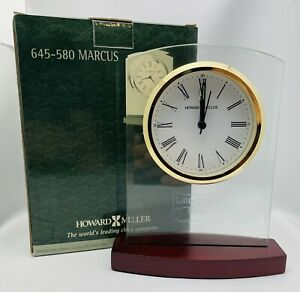 "645- 580 MARCUS -HOWARD MILLER TABLE MANTEL CLOCK  ""NEW"""