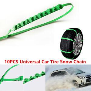 10X Reusable Auto Car Tire Snow Chain Emergency Winter Wheel 175-295mm Anti-Slip