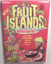 """Fruit Islands Vintage Cereal Box 2"""" x 3"""" Refrigerator or Locker MAGNET"""
