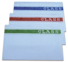 PACK OF 10 COTTON GLASS CLOTH HIGH QUALITY ALTERNATIVE COLOUR CODED TEA TOWEL