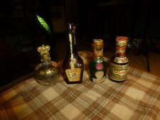Vintage DOM JACQUINS DRAMBUIE BUSTANOBY 1/2 Pint Alcohol Liqueur Bottle Lot Of 4