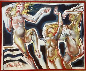 Art Gallery Liquidation -  Dance - acrylic painting on board by Vladimir Tkachev