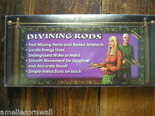 new Brass L Shaped Divining Dowsing Rods Buckland with instructions boxed