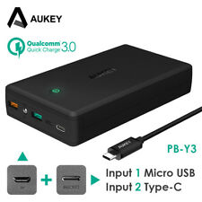 AUKEY Power Bank 30000mAh Type C 5V/3A In/Out Quick Charge 3.0 External Battery