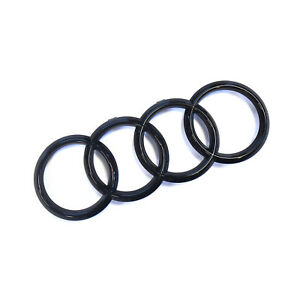 ORIGINAL Audi Emblem Logo Ringe schwarz Kühlergrill R8 TTRS 8V0853742B T94