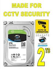 2 TB Hard Drive 7200 Rpm For CCTV Security Camera DVR NVR Seagate SkyHawk