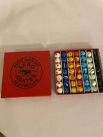 Marbles Set 49pc Marble Set With Box Antique Vintage Akro Agate Marbles5/8 inch