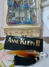 VTG NIB Anne Klein II Real Parfum Perfume Flacon 0.25 ¼ Oz 7.5ml w Glass Stopper