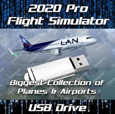 FLIGHT SIMULATOR FLIGHTGEAR 2020 ULTIMATE DELUXE EDITION SIM WINDOWS ON USB