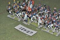 25mm napoleonic / french - infantry 36 figs - inf (18427)