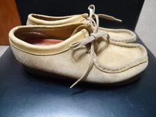 Women's SZ 7M Clarks  Wallabee Sand Beige Suede Casual Shoes 35395
