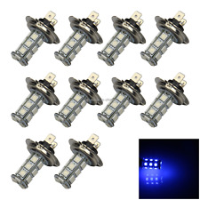 10x Blue Car H7 Fog Light Tail Blub 18 Emitters 5050 SMD LED IEC7004-5-3 H152