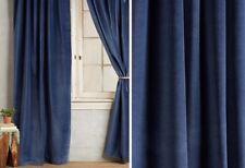 NEW $636 ANTHROPOLOGIE Matte Velvet Curtain Set Of 2 Panels 108x50